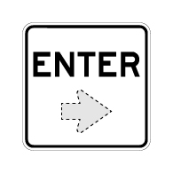 Enter Sign with Choice of Arrow Direction - 18x18 Size Good for Outdoor and Parking Lot Uses - Engineer Grad Reflective Heavy Gauge Aluminum Exit Sign from STOPSignaAndMore.com