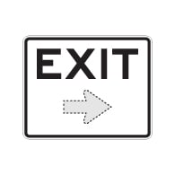 Exit Sign with Choice of Arrow Direction - 30x24 Large Size is Good for Outdoor and Parking Lot Uses - Engineer Grad Reflective Heavy Gauge Aluminum Exit Sign from STOPSignaAndMore.com