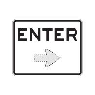 Enter Sign with Choice of Arrow Direction - 30x24 Large Size is Good for Outdoor and Parking Lot Uses - Engineer Grad Reflective Heavy Gauge Aluminum Exit Sign from STOPSignaAndMore.com