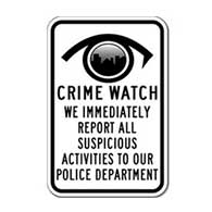 Neighborhood Watch City Eye Sign - 12x18