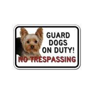 Custom No Trespassing Guard Dog Photo Signs - 18x12