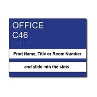 ADA Compliant Custom Room Number Sign with Two Window Name Slots 8x5