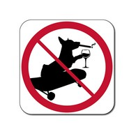 No Dogs, Skateboarding, Smoking or Alcohol Sign - 12x12 - Control unwanted smoking with this durable and reflective aluminum No Smoking Symbol Sign