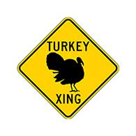 Turkey Crossing Road Sign - 24x24
