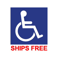 Window Labels – Symbol of Accessibility - 6x6 (Minimum Order 25)