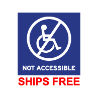 Window Decals - NOT Accessible Symbol  - 6x6