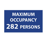 ADA Maximum Occupancy Room Signs with Tactile Text - 12x7