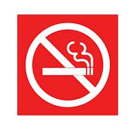 ADA Compliant No Smoking Symbol Signs with Tactile Symbol - 6x6