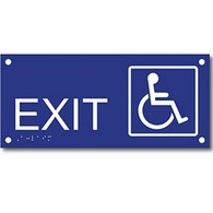ADA Compliant Exit Signs with Tactile Text and Grade 2 Braille - 13.5x6
