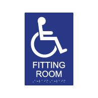 ADA Compliant Accessible Fitting Room Signs - 6x9