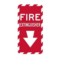 Fire Extinguisher Location Sign - 12x6 - Reflective rust-free heavy-gauge aluminum Fire Extinguisher Indicator Signs