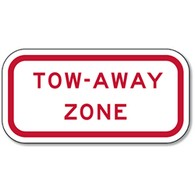 Federal R7-201 Tow-Away Zone Signs - 12x6 - Reflective Rust-Free Heavy Gauge Aluminum Parking Signs This sign meets Federal MUTCD standards for the R7-201 Tow-Away Zone Sign.