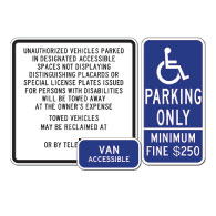 California Disabled Parking Sign kit