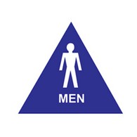 ADA Economy Mens Restroom Door Signs with Tactile Text and Pictograms - 12x12