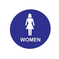 ADA Economy Womens Restroom Door Signs with Tactile Text and Pictograms - 12x12