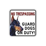 Buy Full Color and Reflective No Trespassing Guard Dogs On Duty Signs 18x18