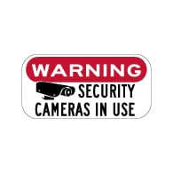 Warning Security Cameras In Use Sign - 12x6 - Reflective rust-free heavy-gauge aluminum Video Security Signs