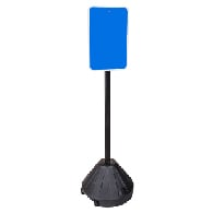 "48"" Portable Sign Post, Base, and Hardware available at STOPSignsAndMore.com"