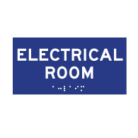 ADA Compliant ADA Electrical Room Signs with Tactile Text and Grade 2 Braille - 6x4