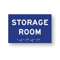 ADA Compliant Storage Room Sign with Tactile Text and Grade 2 Braille - 6x4