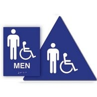 ADA Unisex Sign Kit with Wheelchair ISA Symbol