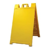 Yellow Portable Two-Sided A-Frame Sign Holder - Fits Signs Up To 24X36