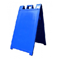 Blue Portable Two-Sided A-Frame Sign Holder - Fits Signs Up To 24X36
