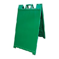 Green Portable Two-Sided A-Frame Sign Holder - Fits Signs Up To 24X36