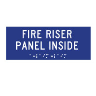 ADA Compliant ADA Fire Riser Panel Inside Signs with Tactile Text and Grade 2 Braille - 6x4