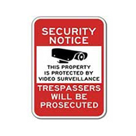 Property Protected By Video Surveillance Sign - 12x18