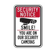 B-STOCK Security Notice Smile! B-STOCK Security Cameras Sign - 12x18