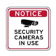 Notice Security Cameras In Use Sign - 18X12 - Reflective rust-free heavy-gauge aluminum Video Security Signs