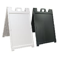 Deluxe Portable Two-Sided A-Frame Sign Holder - Fits Signs Up To 24X36