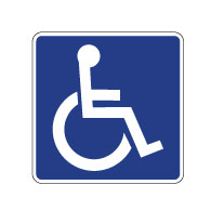 D9-6 Handicap Accessible Signs - No Arrows - 12x12  - Reflective Rust-Free Heavy Gauge Aluminum