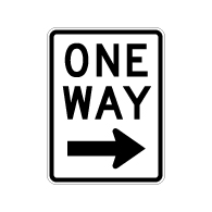 R6-2R One Way Signs With Right Arrow - 18X24 - Official MUTCD Reflective Rust-Free Heavy Gauge Aluminum Road Signs