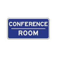 Conference Room Sign - 12x6 - Non-Reflective rust-free aluminum signs