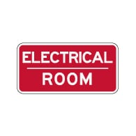 Electrical Room Sign - 12x6 - Non-Reflective rust-free aluminum signs