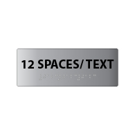 ADA Compliant Custom Room Name Signs - Tactile Text - Braille - Brushed Aluminum