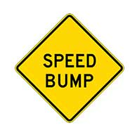 Speed Bump Warning Signs - 24x24 - Reflective Rust-Free Heavy Gauge Aluminum Road Signs. This sign meets Federal MUTCD Sign specifications for the W17-1 Speed Hump Sign.