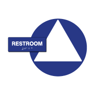 ADA Compliant Gender Neutral Sign Kit for Single-Use Restrooms