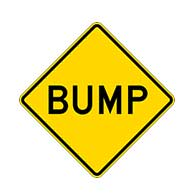Bump Warning Signs - 24x24 - W8-1 MUTCD Regulation Reflective Rust-Free Heavy Gauge Aluminum Road Signs