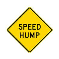Regulation MUTCD Speed Hump Warning Sign - Reflective Rust-Free Heavy Gauge Aluminum Road Signs