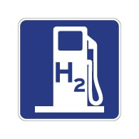 California Hydrogen Fueling Station Sign - 18x18 - Reflective Rust-Free Heavy Gauge Aluminum Alternative Fueling Signs