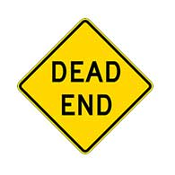 Dead End Road Signs - 24x24 - Regulation MUTCD W14-1 Reflective Dead End Warning Signs on Rust-Free Heavy Gauge Aluminum