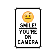 photograph regarding Smile You're on Camera Sign Printable titled Movie Surveillance Signs and symptoms Safety Digicam Indicators