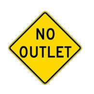 Buy No Outlet Road Warning Signs - 24x24 - Regulation MUTCD Reflective No Outlet Warning Signs on Rust-Free Heavy Gauge Aluminum.