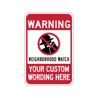 Protect your family, neighbors, and houses with our neighborhood crime watch sign. Find the Neighborhood Watch Warning Sign. Shop StopSignsAndMore today!