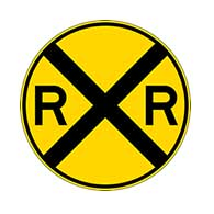 Railroad Crossing Warning Signs - 30x30 - W10-1 MUTCD Compliant High Intensity Prismatic Reflective Rust-Free Heavy Gauge Aluminum Railroad Crossing Warning Signs