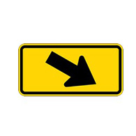W16-7-PR Crosswalk Right Arrow Signs - 24x12 - Rust-Free Heavy Gauge Reflective Aluminum Pedestrian Crosswalk Signs