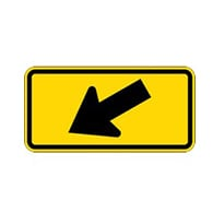 Crosswalk Left Arrow Signs - 24x12- Regulation MUTCD W16-7 Reflective Cross Walk Arrow Signs on Rust-Free Heavy Gauge Aluminum